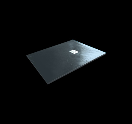 Aquatek Hard TOP 100x70 sprchová vanička z litého mramoru s břidlicovým povrchem černá
