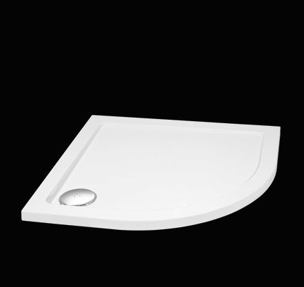 Aquatek SMC 90x90cm sprchová vanička z tvrzeného polymeru čtvrtkruhová