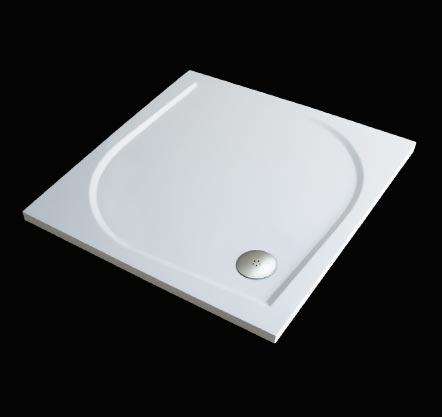 Aquatek Hard 80 sprchová vanička z litého mramoru čtvercová