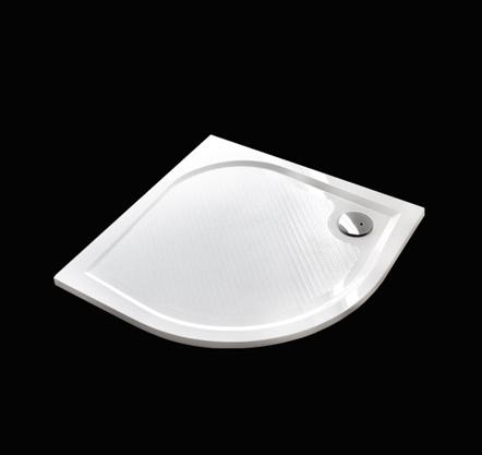 Aquatek Bent 80 sprchová vanička z litého mramoru čtvrtkruhová s protiskluzovou úpravou
