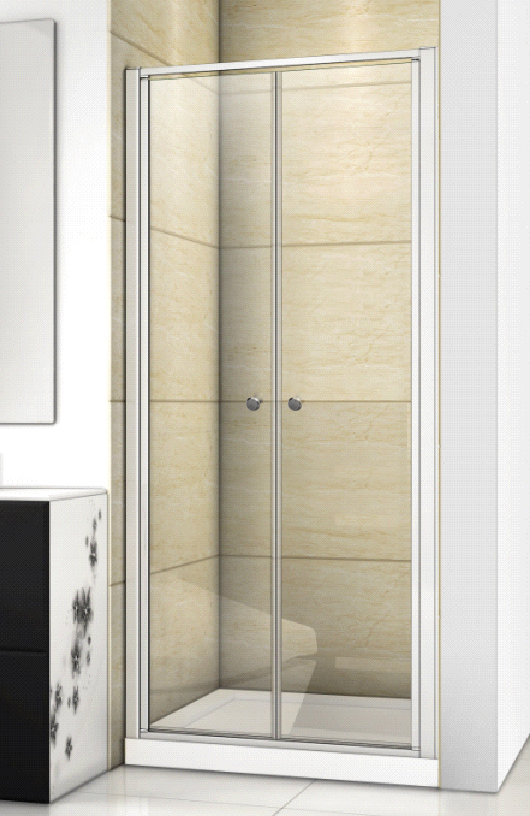 Aquatek Family B02 CHROM Sprchové dveře do niky dvoukřídlé, 87-91 x 190cm