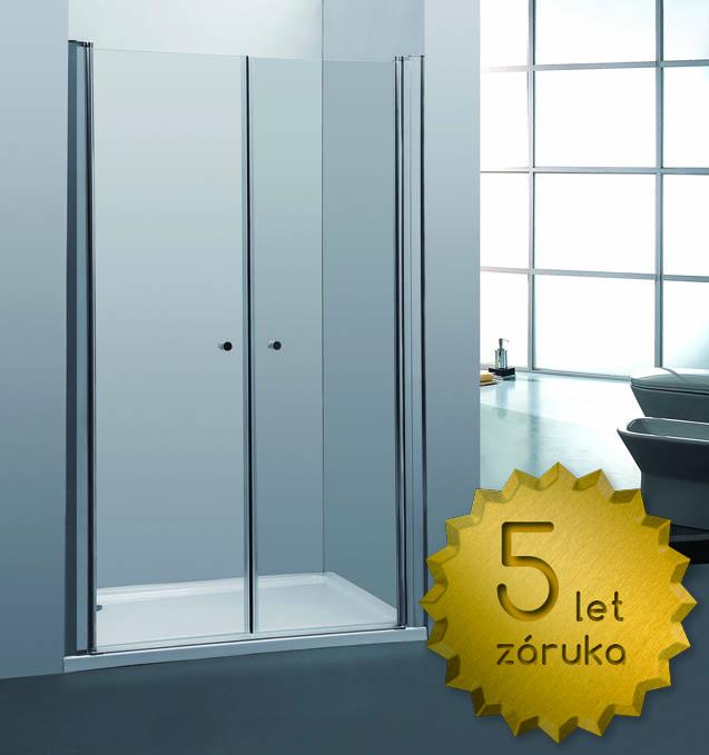 Sprchové dveře PURE 100 dvoukřídlé 96-100 x 190 cm