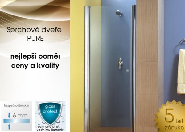 jednokřídlé sprchové dveře PURE