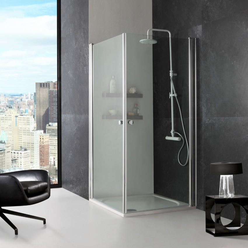 Cristal 90 clear sprchová zástěna čtvercová 90x90cm s vaničkou z litého mramoru