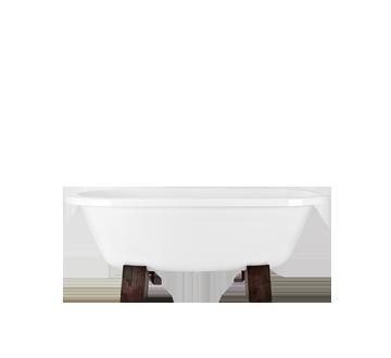 Gracia 160x75 cm volně stojící koupací vana na dřevěných nohách