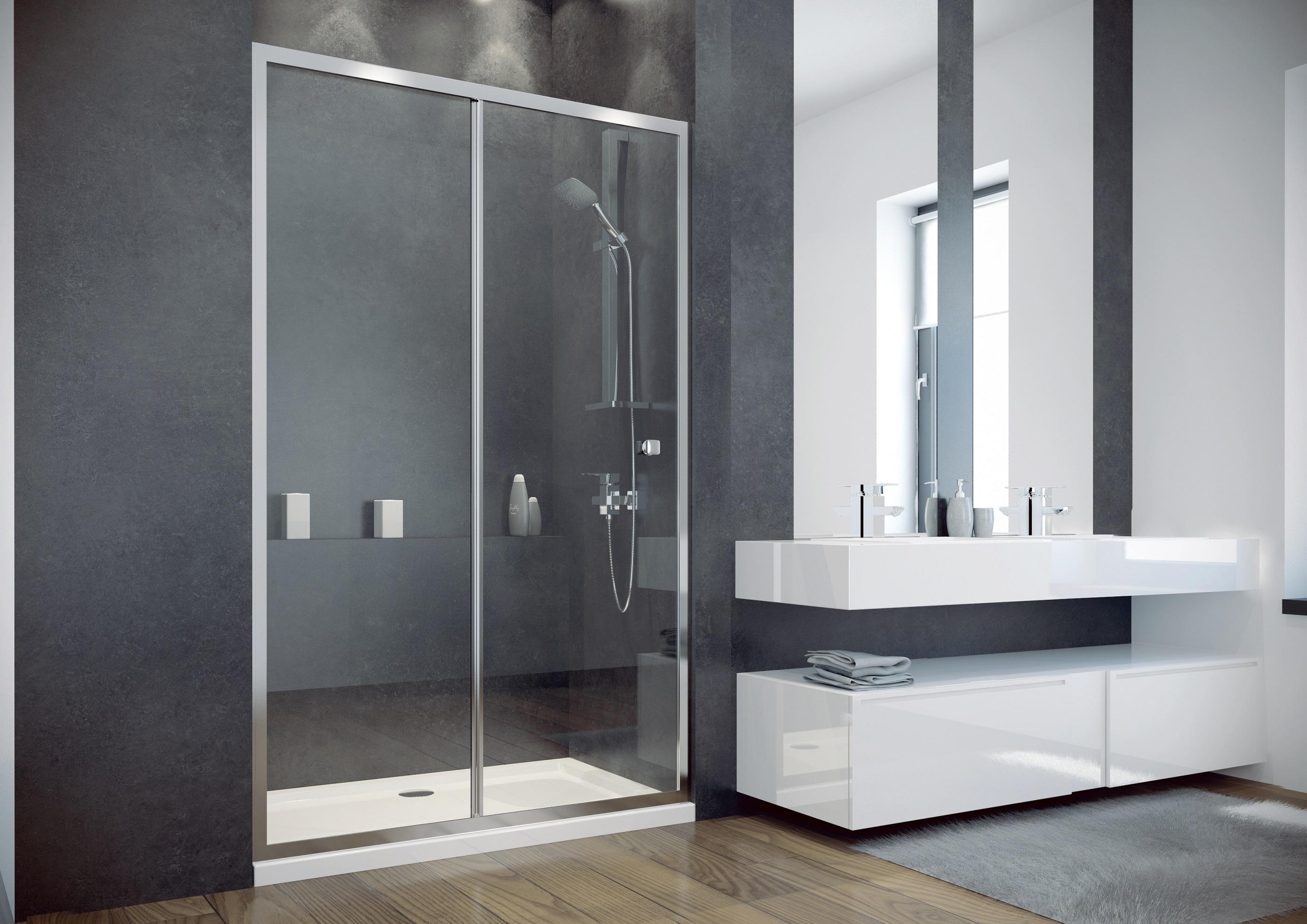 DUO SLIDE 120 - Sprchové dveře zasouvací 118-121cm