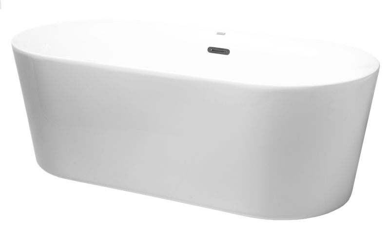 Volně stojící vana Zara 169x80 cm, akrylát, 230 l