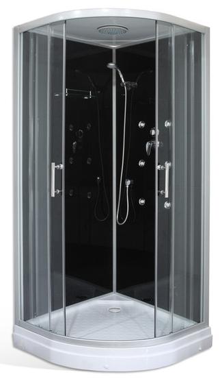 DARK 90 x 90cm masážní box nízká vanička