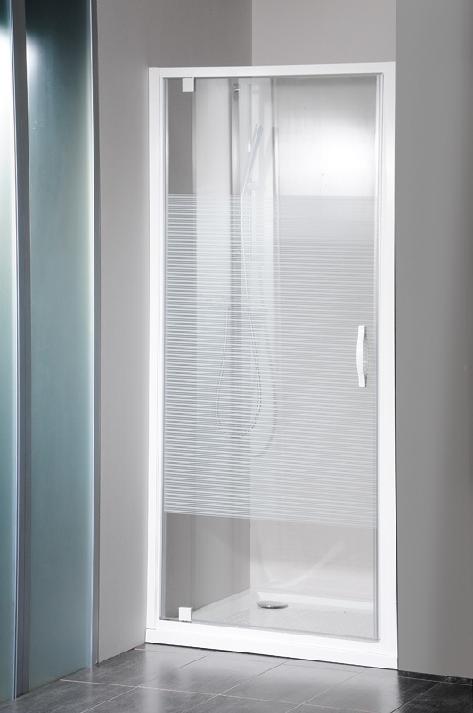 Gelco GE6690 Sprchové dveře jednodílné otočné - sklo Strip GE6690