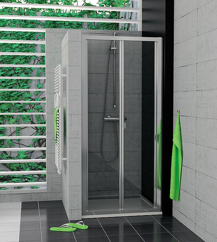 SanSwiss TOPK 0900 50 07 Zalamovací dveře 90 cm TOPK09005007