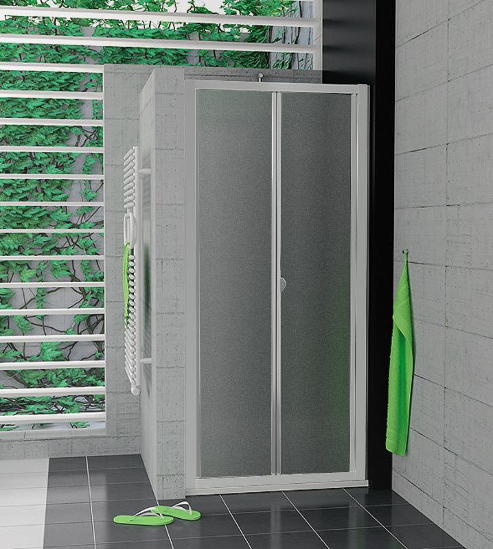 SanSwiss TOPK 0900 01 22 Zalamovací dveře 90 cm TOPK09000122