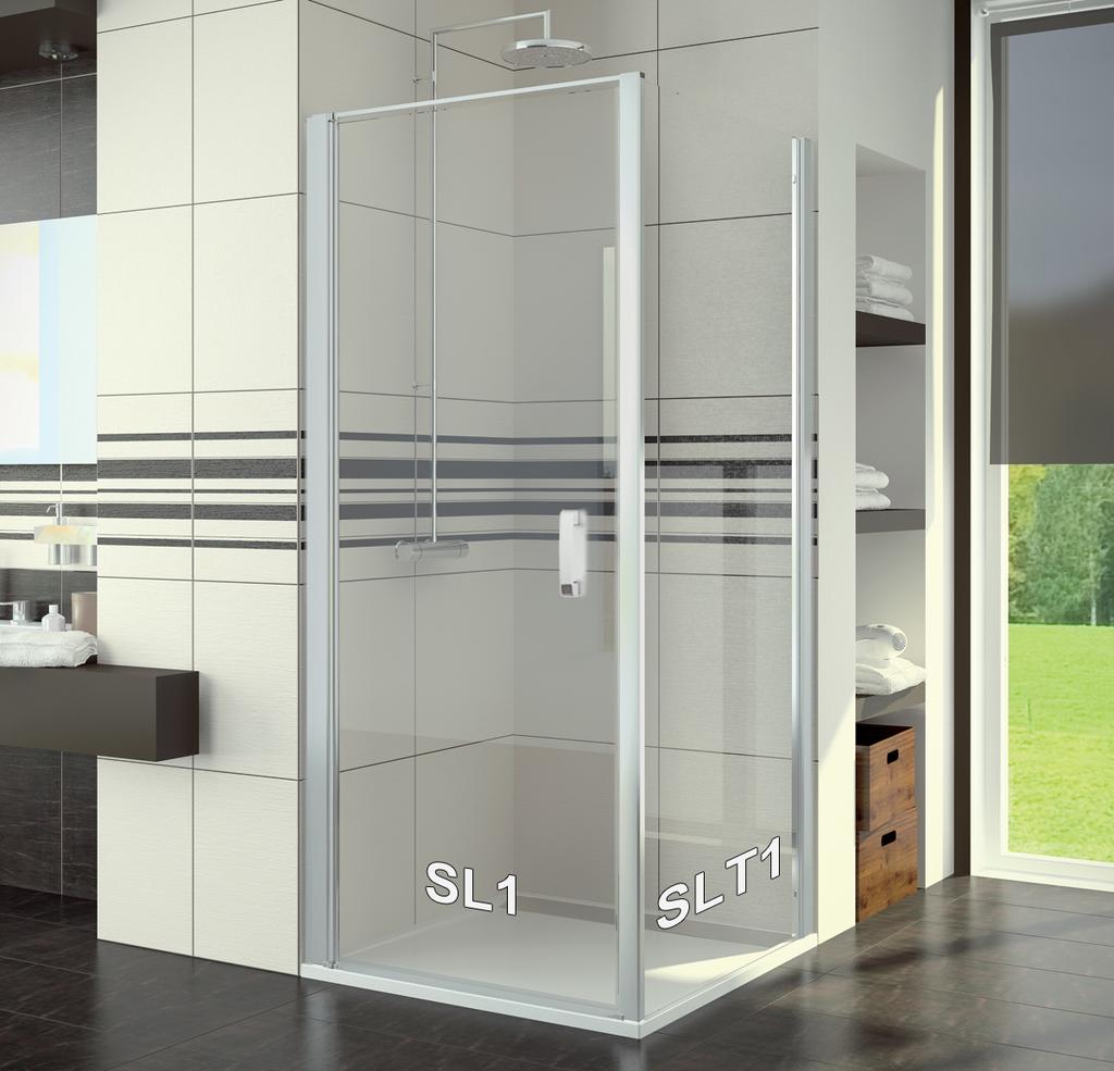SanSwiss SL1 1000 01 07 Sprchové dveře jednokřídlé 100 cm SL110000107