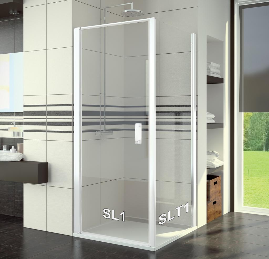 SanSwiss SL1 1000 04 07 Sprchové dveře jednokřídlé 100 cm SL110000407