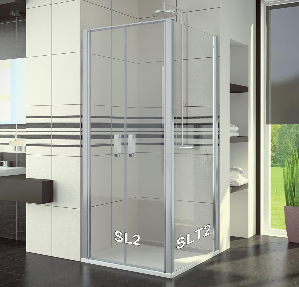 SanSwiss SL2 1000 01 07 Sprchové dveře dvoukřídlé 100 cm SL210000107