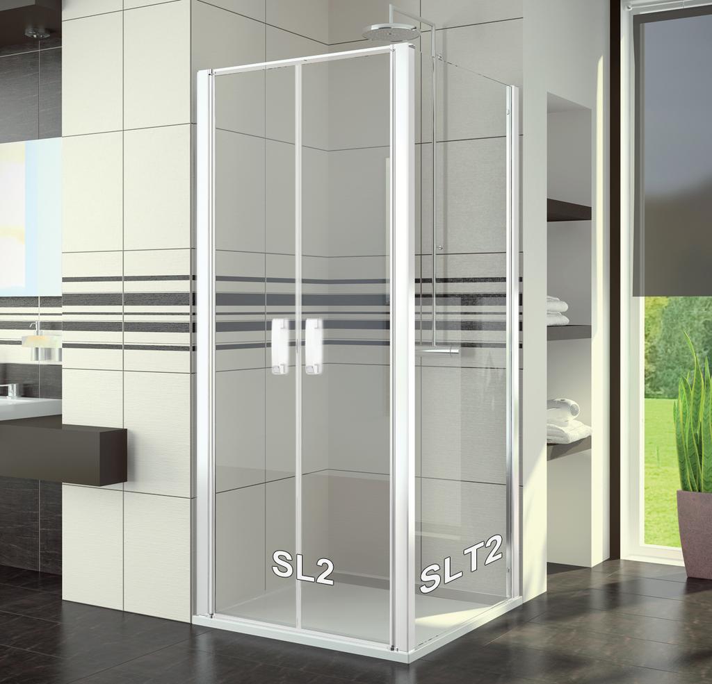 SanSwiss SL2 1000 04 07 Sprchové dveře dvoukřídlé 100 cm SL210000407