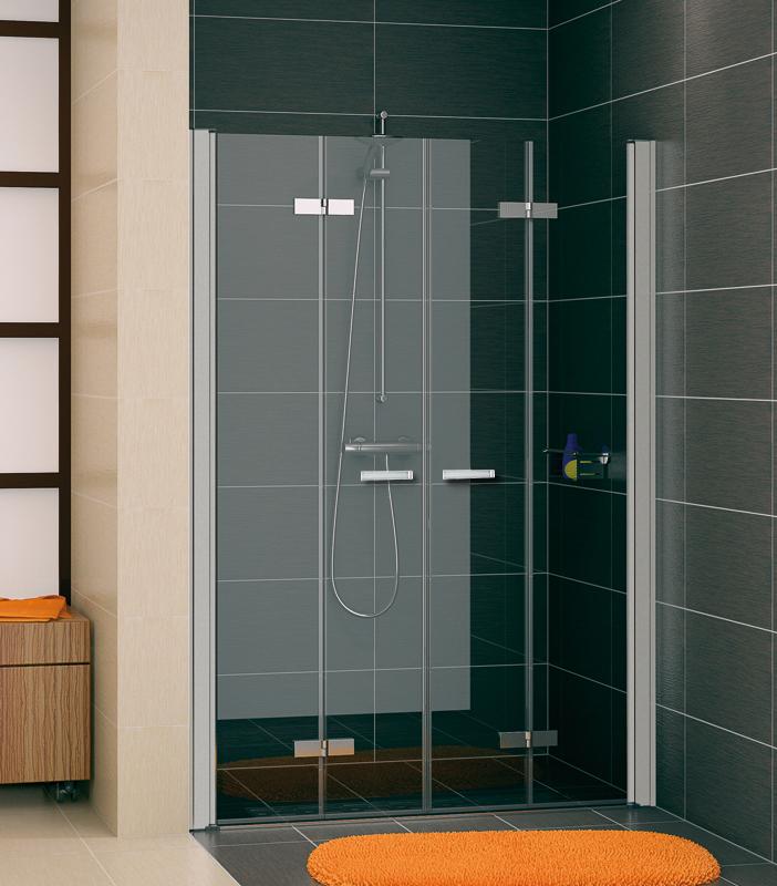 SanSwiss SLF2 1200 01 07 Sprchové dveře dvojité dvoudílné skládací 120 cm