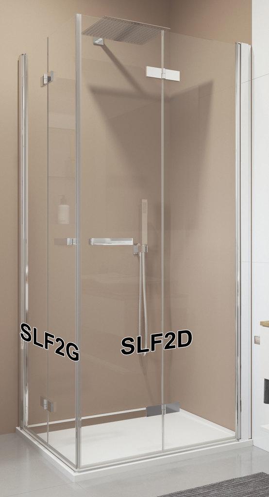 SanSwiss SLF2D 0900 50 07 Pravý díl sprchového koutu skládací 90 cm SLF2D09005007