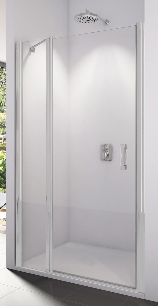 SanSwiss SL13 0800 01 07 Sprchové dveře jednokřídlé s pevnou stěnou 80 cm SL1308000107