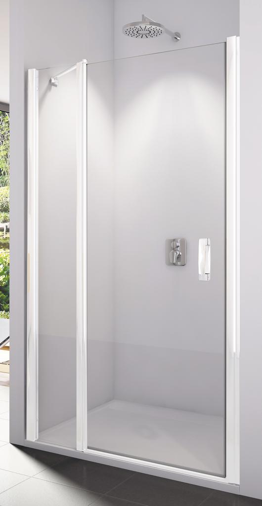 SanSwiss SL13 0800 04 07 Sprchové dveře jednokřídlé s pevnou stěnou 80 cm SL1308000407