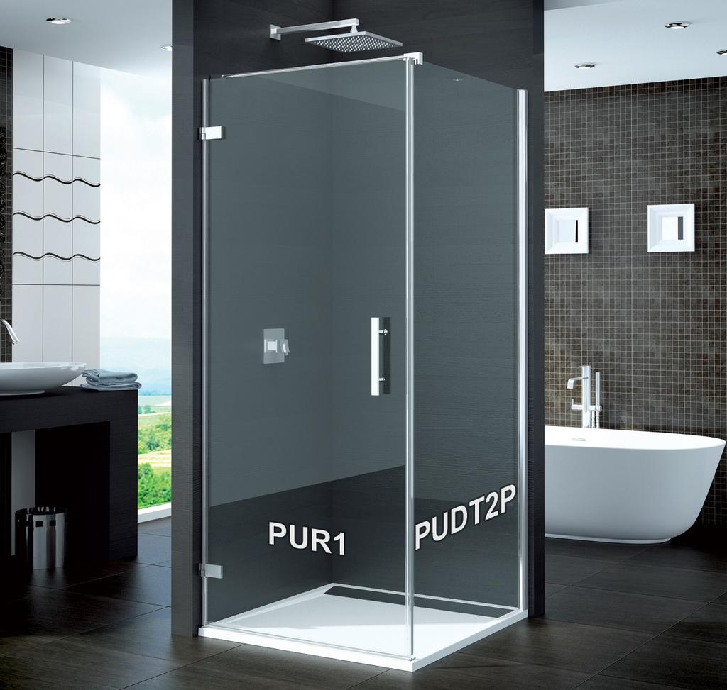 SanSwiss PUDT2P 070 10 07 Boční stěna sprchová 70 cm