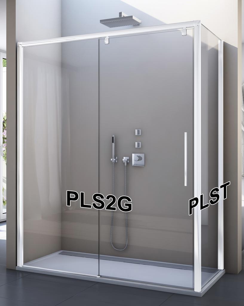 SanSwiss PLS2D 120 04 07 Sprchové dveře posuvné jednodílné 120 cm, pevný díl vpravo