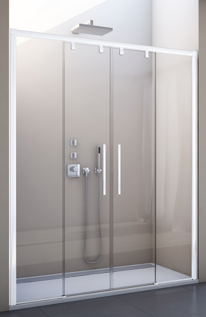 SanSwiss PLS4 120 04 07 Sprchové dveře posuvné dvoudílné 120 cm