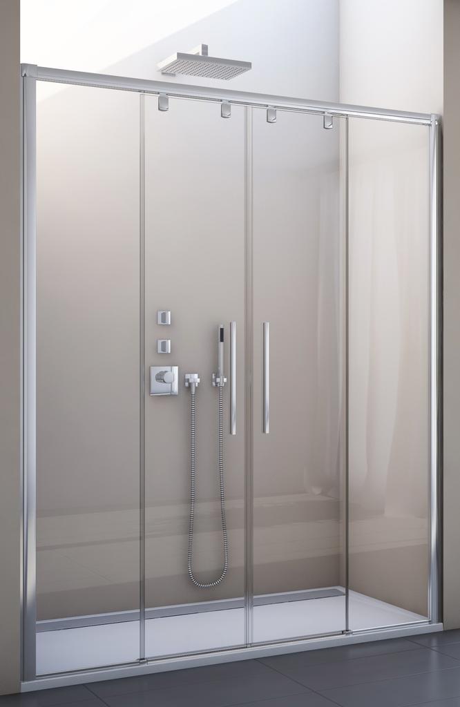 SanSwiss PLS4 120 50 07 Sprchové dveře posuvné dvoudílné 120 cm