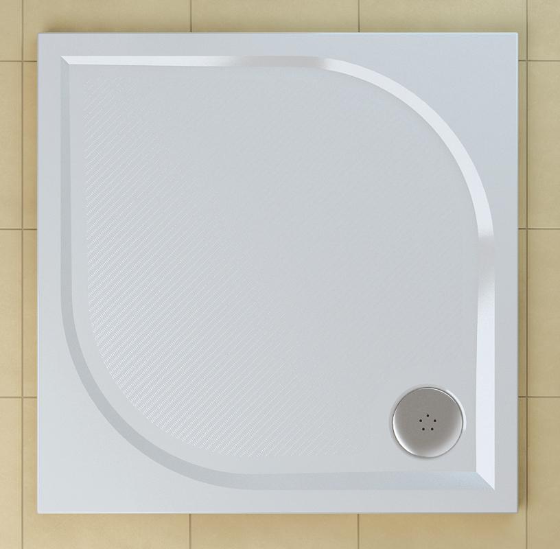 SanSwiss WMQ 1000 04 Sprchová vanička čtvercová 100×100 cm - bílá WMQ100004