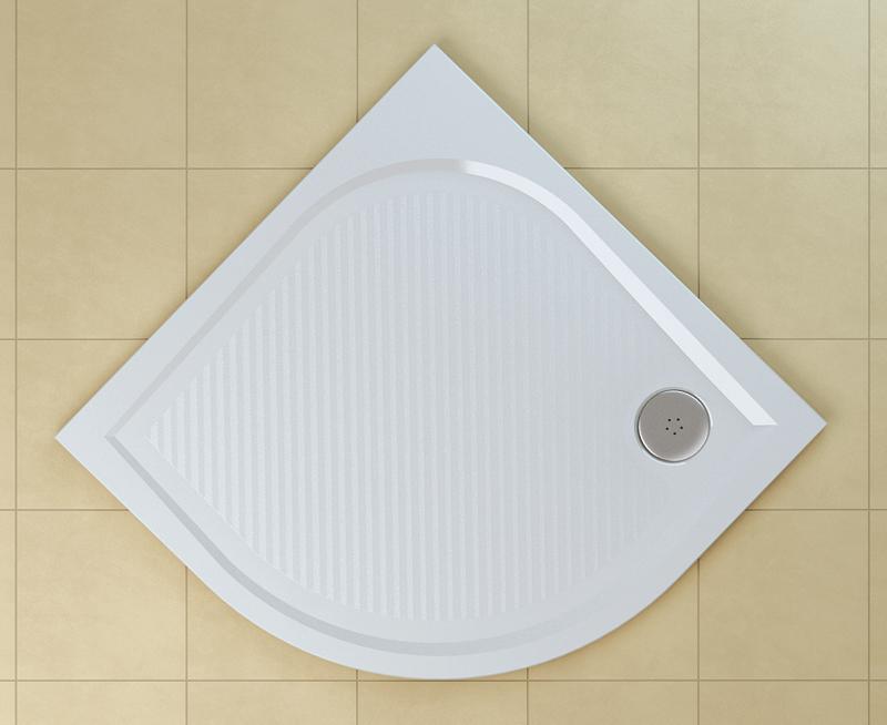 SanSwiss WMR 55 0900 04 Sprchová vanička čtvrtkruhová 90×90 cm - bílá