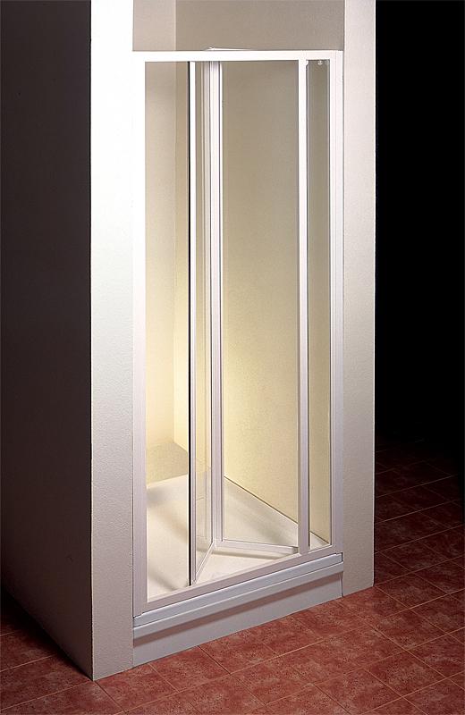 Ravak SDZ3-90 TRANSPARENT Sprchové dveře zalamovací 90 cm bílé 02V70100Z1