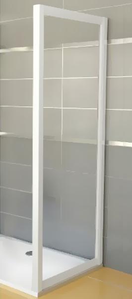 Ravak APSS-90 TRANSPARENT Pevná stěna sprchová 90 cm bílá