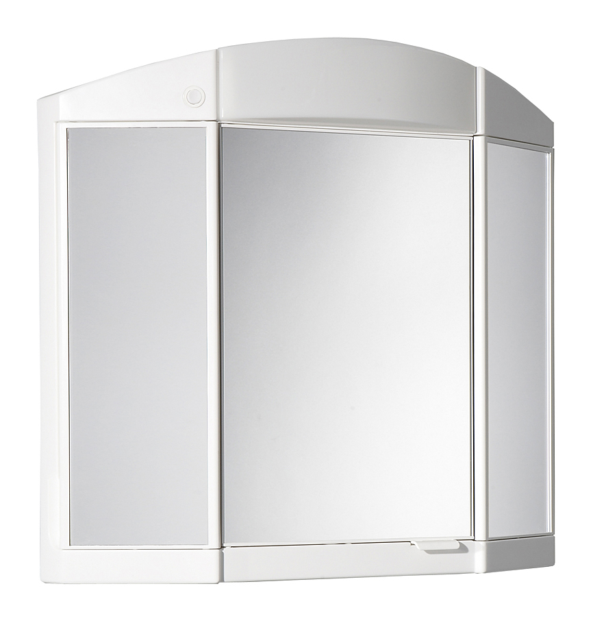 Jokey Plastik ANTARIS Zrcadlová skříňka - bílá