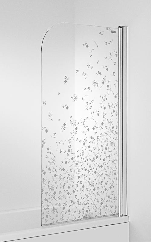 Jika H2574250026691 Vanová zástěna jednodílná 75 x 140 cm L, dekor