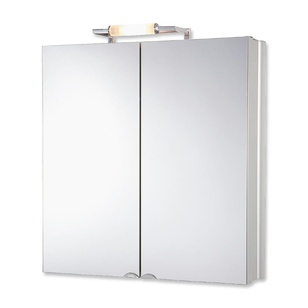 Jokey Plastik BELALU Zrcadlová skříňka - aluminium
