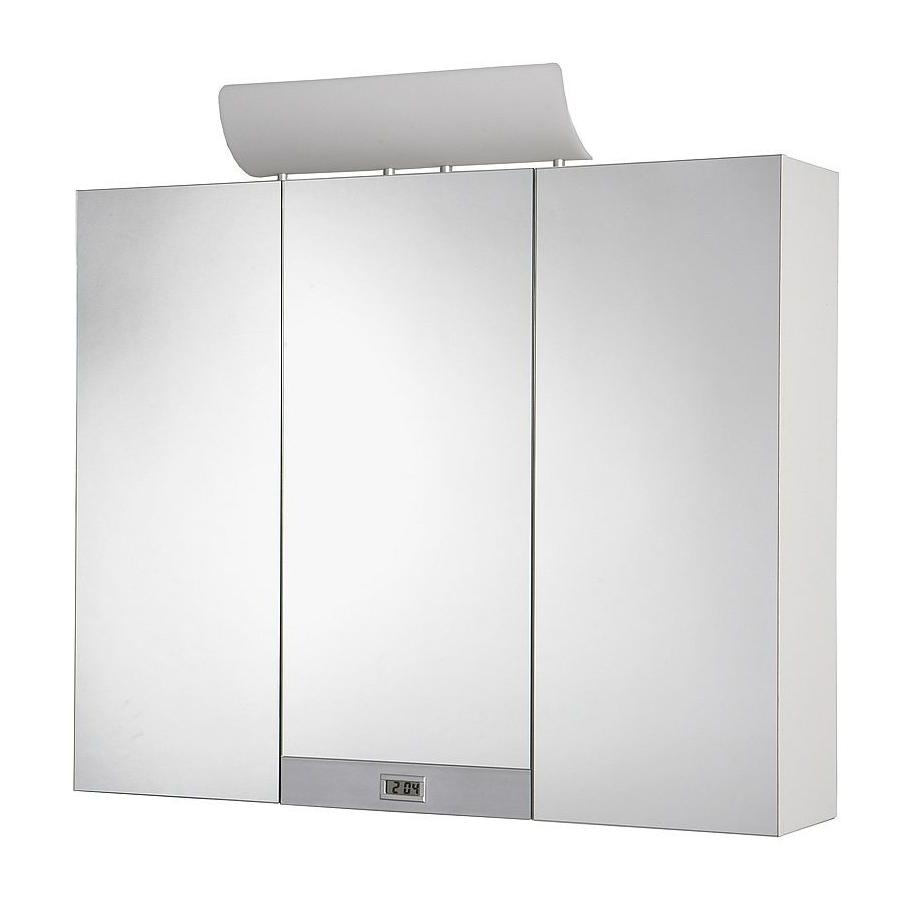 Jokey Plastik TAGONA Zrcadlová skříňka - bílá/dekorační lišta - hliník 113113220-0140