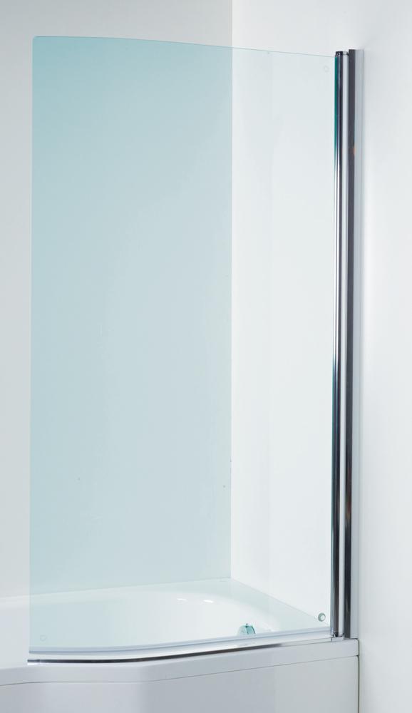 Jika H2572110026681 Vanová zástěna zakřivená 150 × 80 cm pravá, transparent