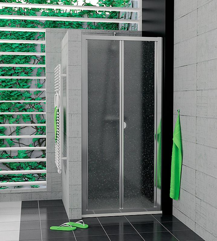 SanSwiss TOPK 0900 50 44 Zalamovací dveře 90 cm TOPK09005044