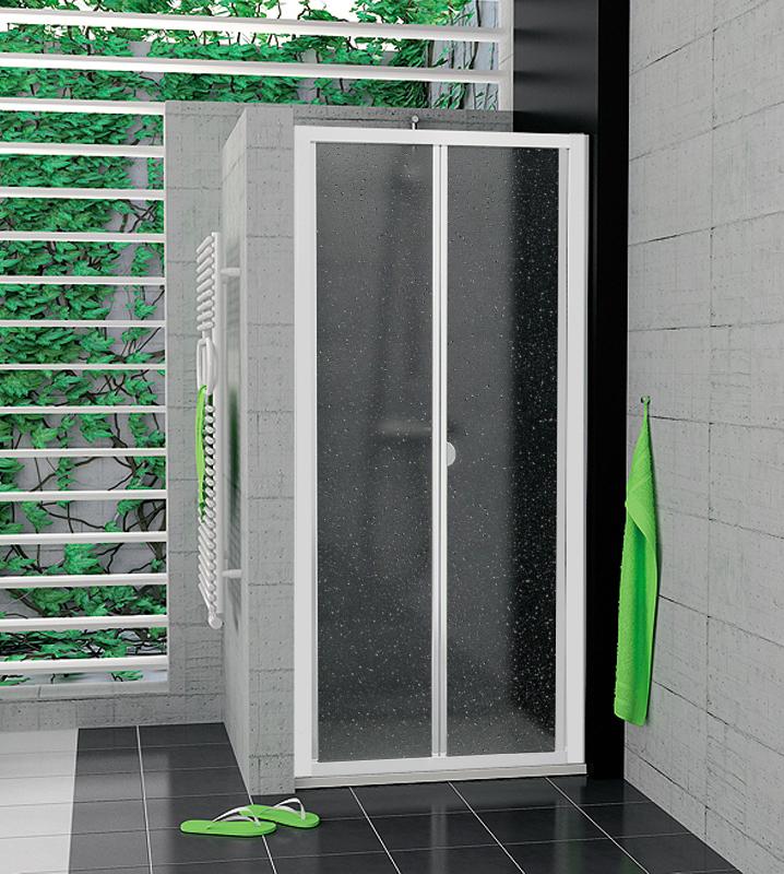 SanSwiss TOPK 0900 04 44 Zalamovací dveře 90 cm TOPK09000444