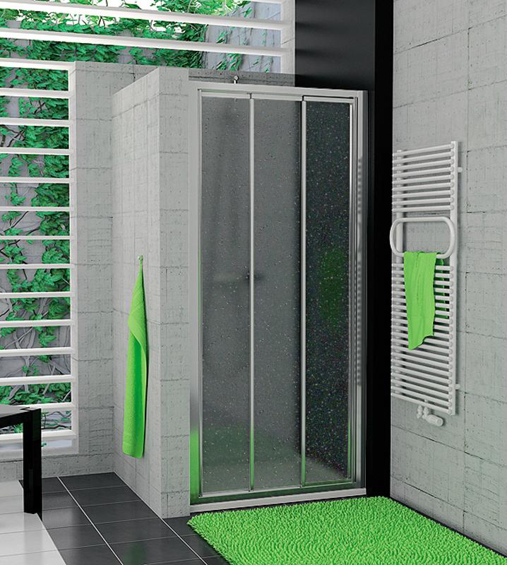 SanSwiss TOPS3 1000 50 44 Sprchové dveře třídílné 100 cm TOPS310005044