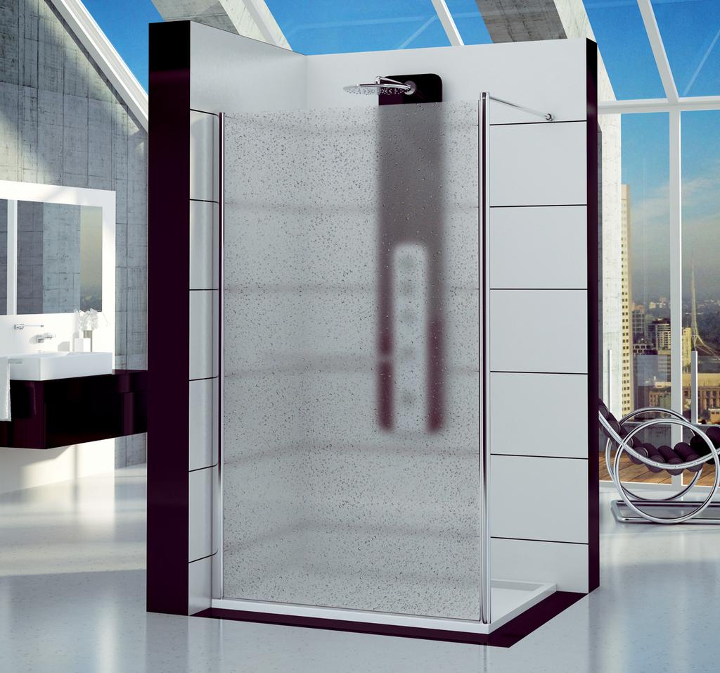 SanSwiss FUN2 0800 50 44 Pevná stěna samostatná 80 cm FUN208005044