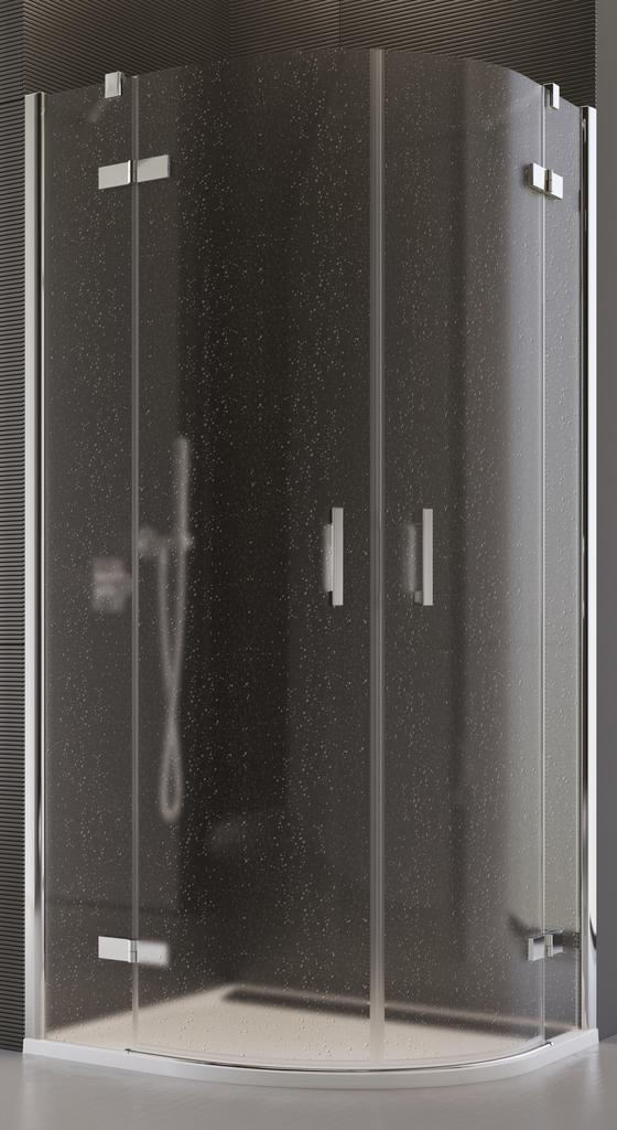 SanSwiss PU4P 55 100 10 44 Sprchový kout čtvrtkruhový 100 cm PU4P551001044