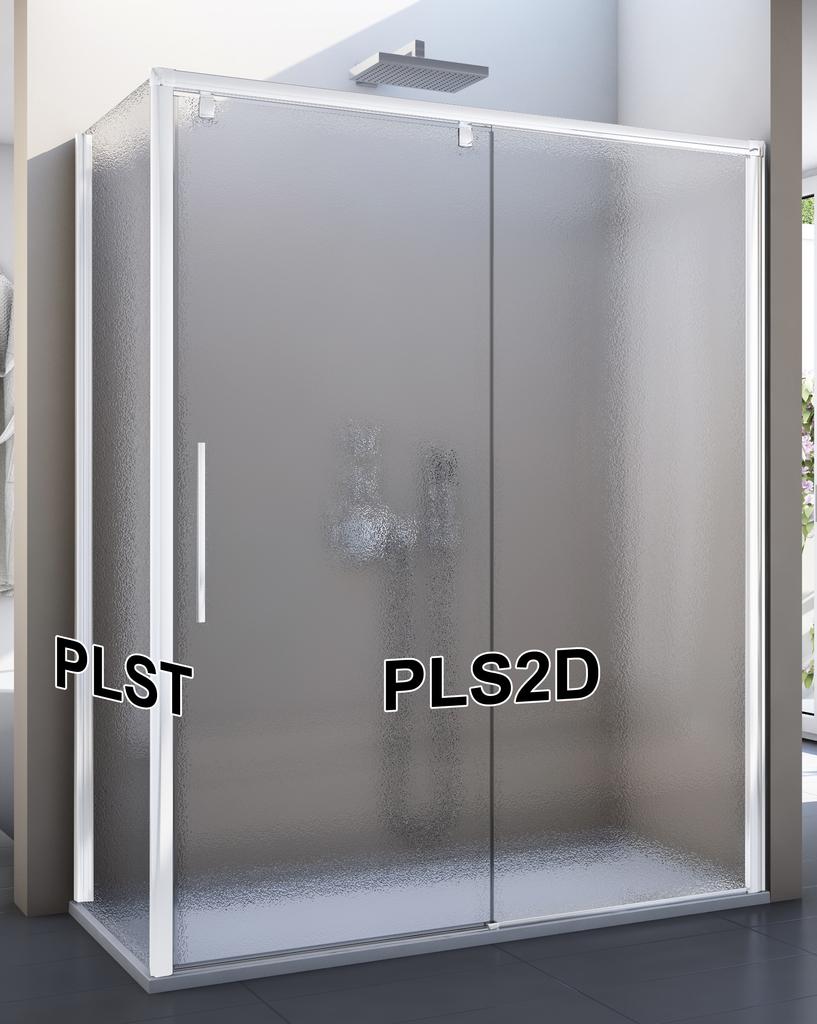 SanSwiss PLS2D 150 04 22 Sprchové dveře posuvné jednodílné 150 cm, pevný díl vpravo