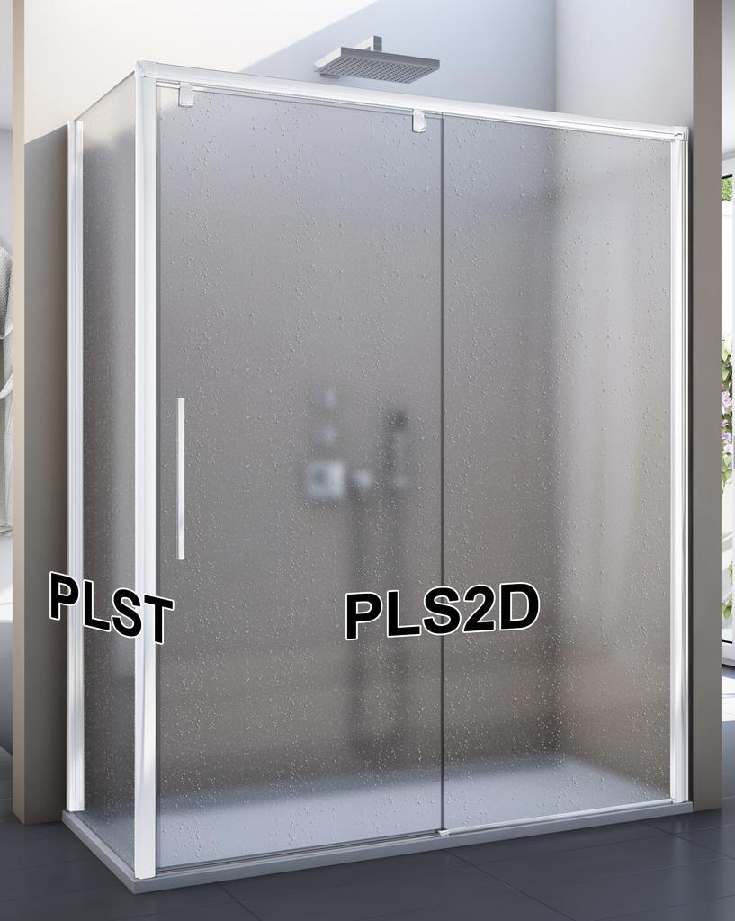 SanSwiss PLS2D 160 04 44 Sprchové dveře posuvné jednodílné 160 cm, pevný díl vpravo