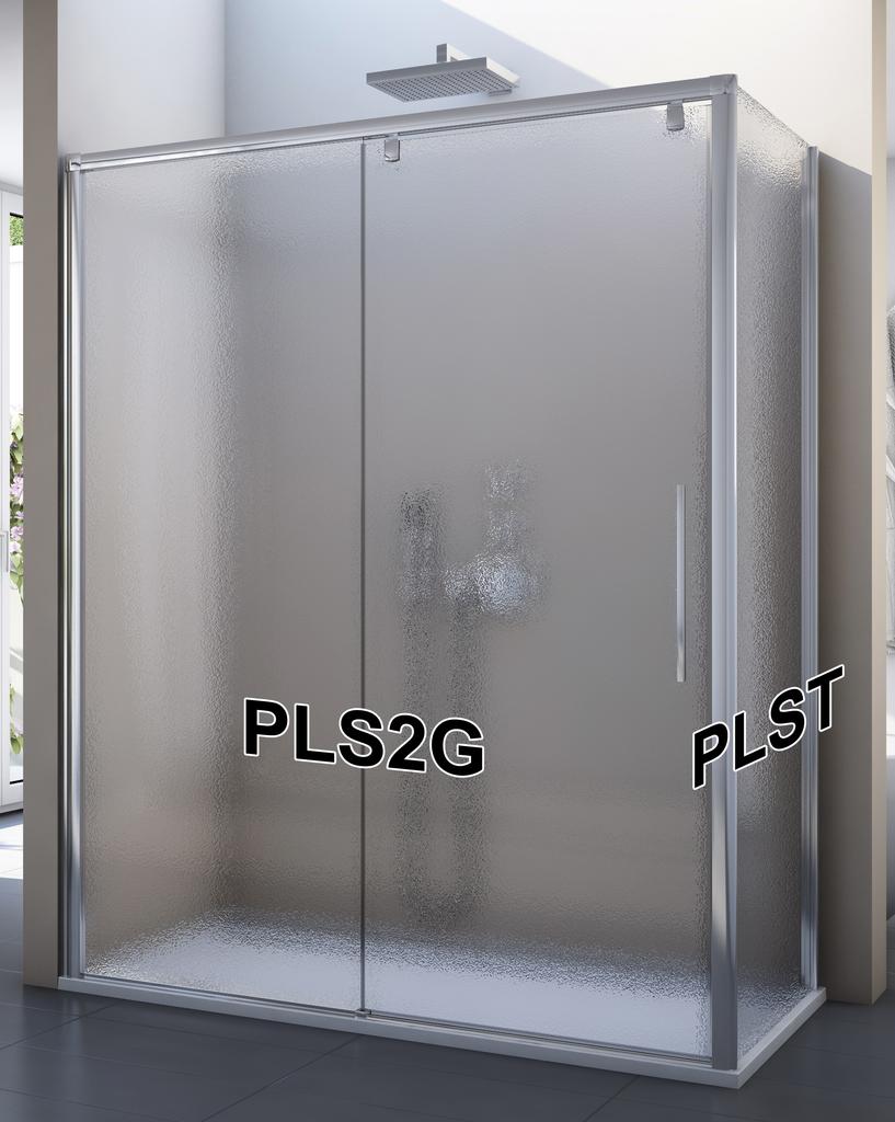 SanSwiss PLS2G 120 50 22 Sprchové dveře posuvné jednodílné 120 cm, pevný díl vlevo