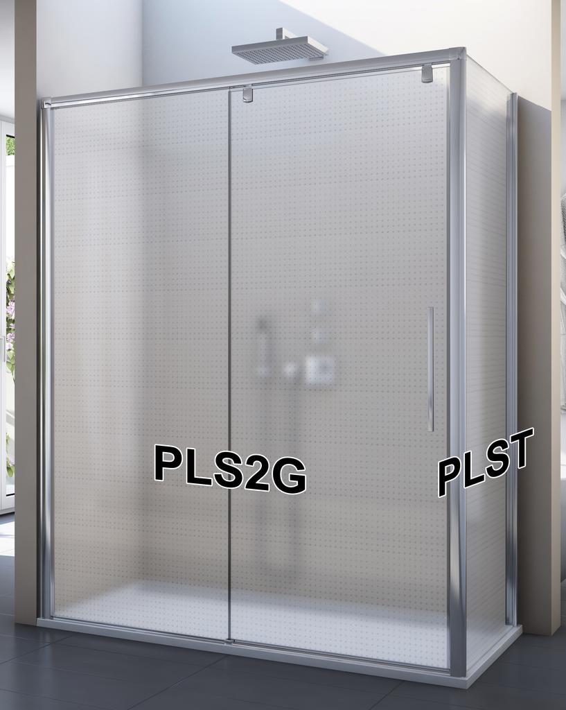 SanSwiss PLS2G 120 50 30 Sprchové dveře posuvné jednodílné 120 cm, pevný díl vlevo