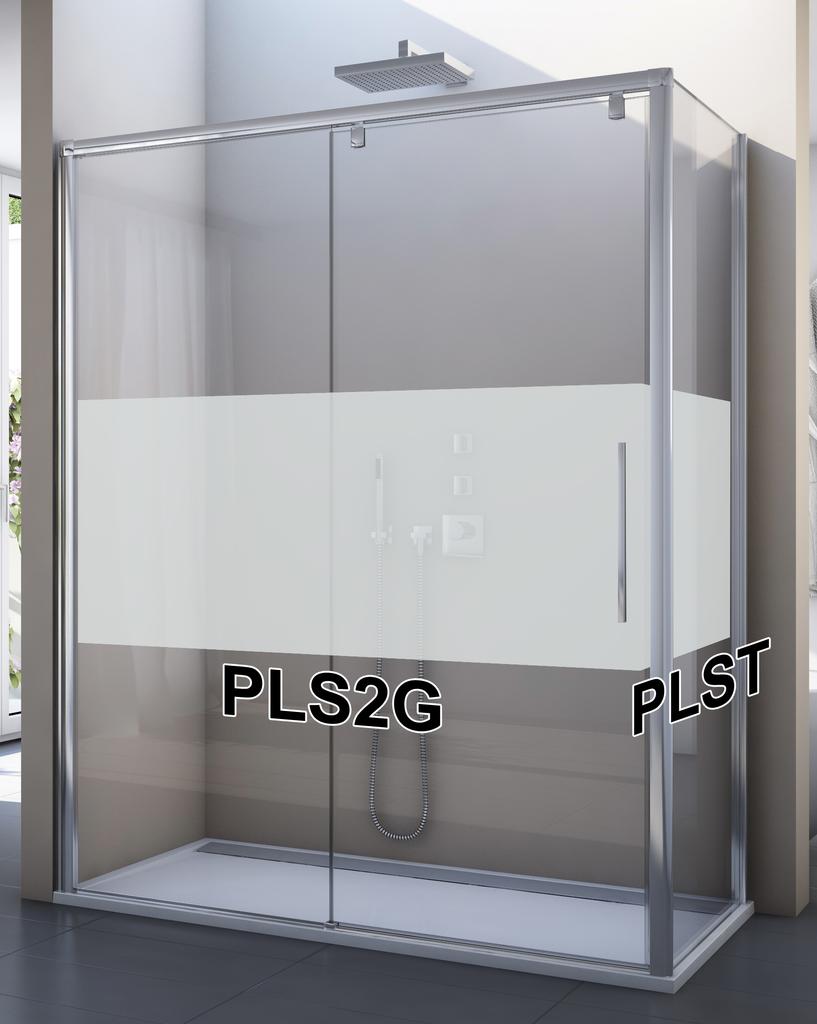 SanSwiss PLS2G 120 50 51 Sprchové dveře posuvné jednodílné 120 cm, pevný díl vlevo