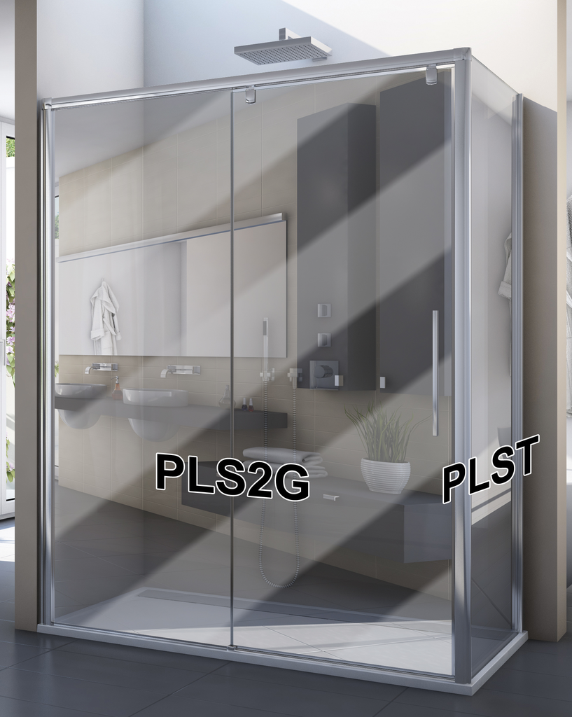 SanSwiss PLS2G 120 50 53 Sprchové dveře posuvné jednodílné 120 cm, pevný díl vlevo