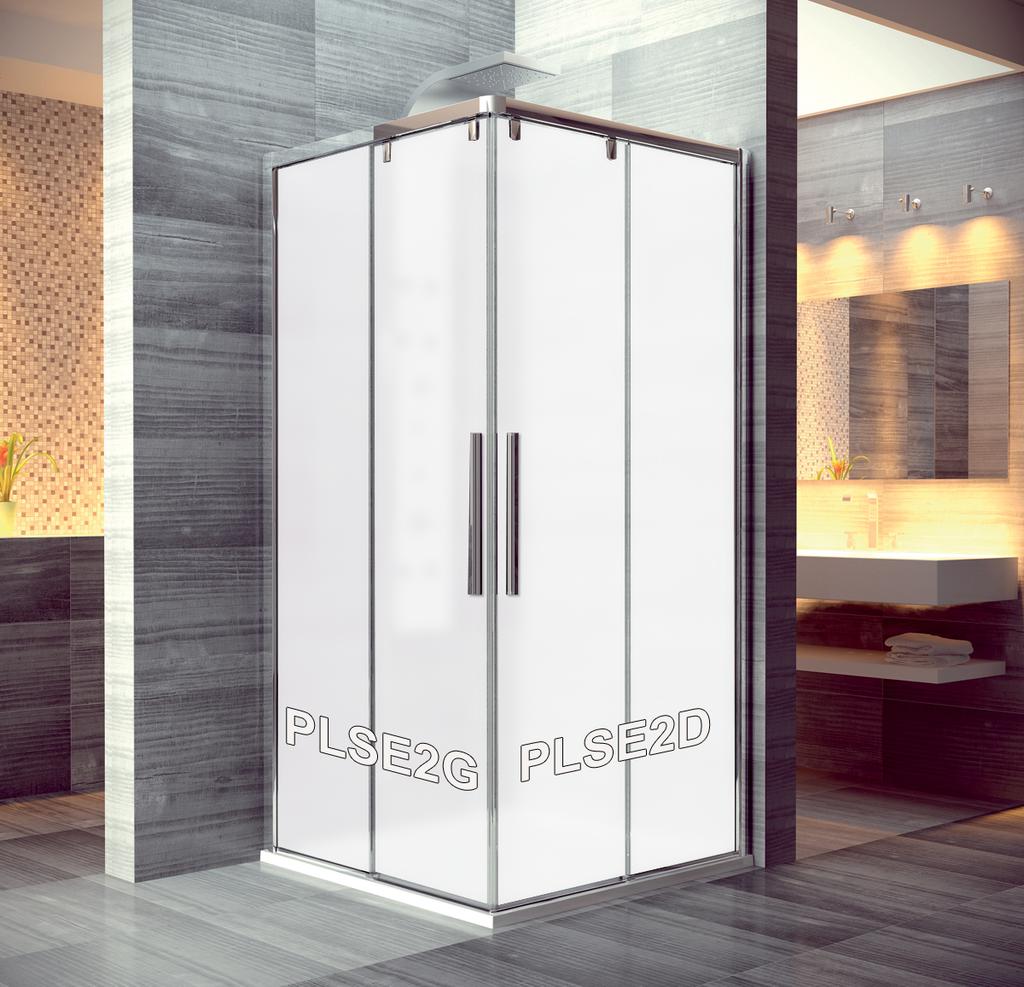 SanSwiss PLSE2D 100 50 49 Pravý díl sprchového koutu 100 cm PLSE2D1005049