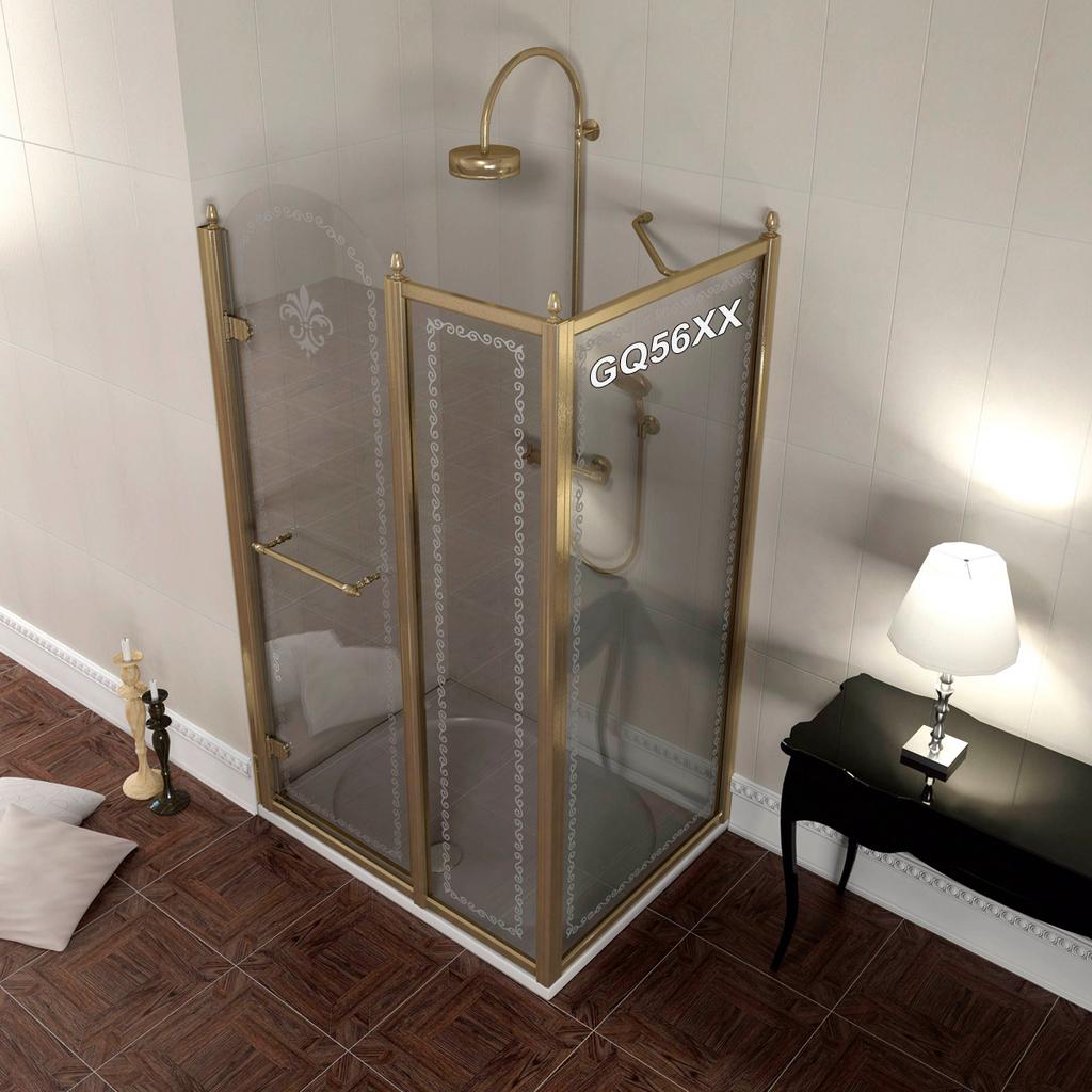 Gelco GQ5680 Boční stěna sprchová - sklo čiré s dekorem