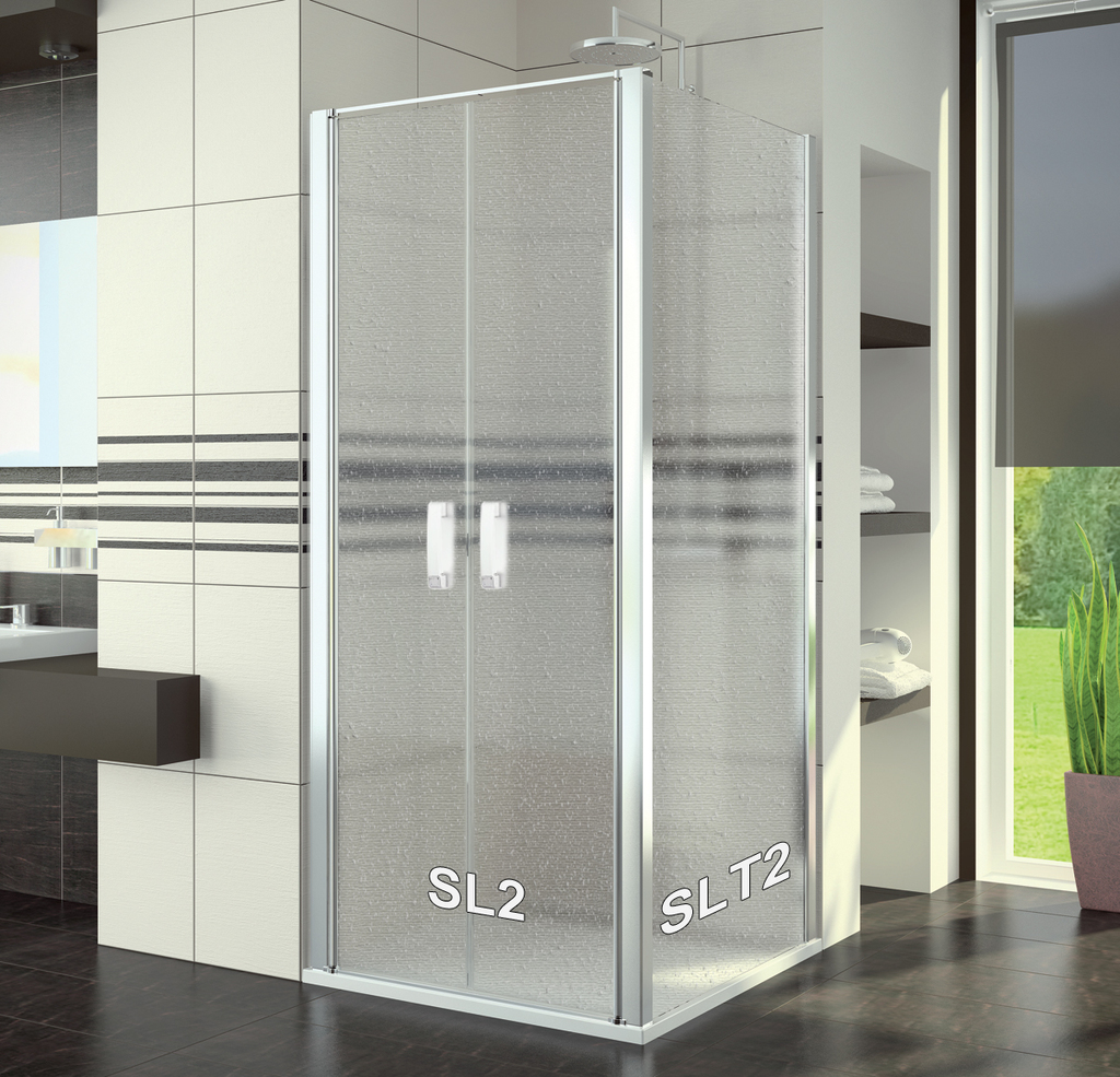 SanSwiss SL2 1000 50 44 Sprchové dveře dvoukřídlé 100 cm SL210005044